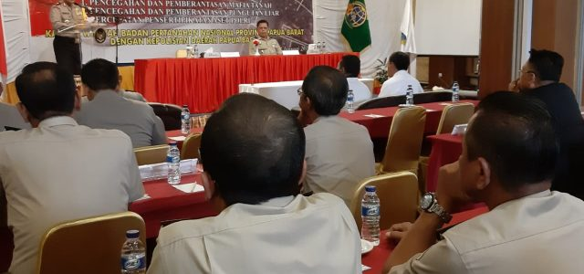 Polda dan BPN  Minimalisir Konflik  Pertanahan  di Papua Barat