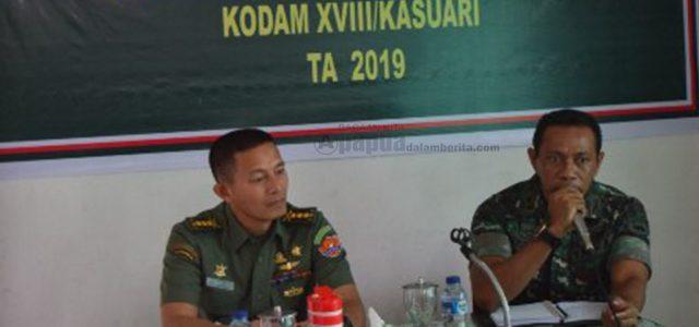 Tim Asnis Penyelenggaraan Binter Kunjungi Koramil 1801-0/Manokwari