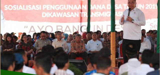 Menteri Desa Targetkan Anggaran Dana Desa Hingga Rp400 Triliun