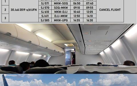 Sriwijaya Air Batalkan  6 Nomor Penerbangan Dari dan Ke Manokwari