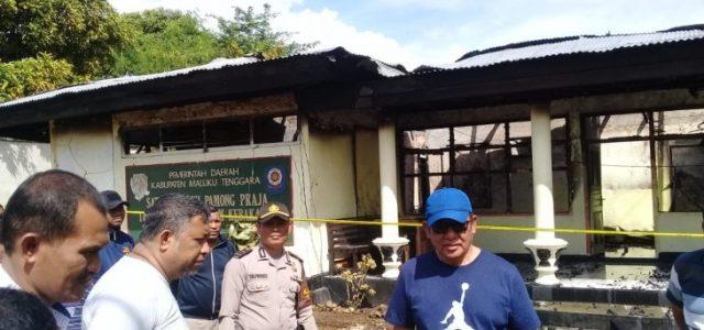 Hari Minggu Lalu Juga Ada yang Lempar Kantor, Bupati Minta Polisi Usut Kebakaran Kantor Satpol PP Maluku Tenggara