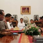 Presiden Joko Widodo memimpin