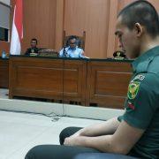 Oknum TNI Terdakwa Pembunuhan dan Mutilasi Menangis di Persidangan