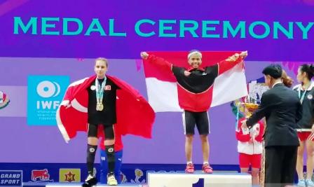 Lifter Lisa Setiawati Sumbang Emas Pertama di Kejuaraan Dunia Thailand