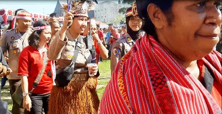 Wakapolda Yospan di Deklarasi Damai Papua Barat