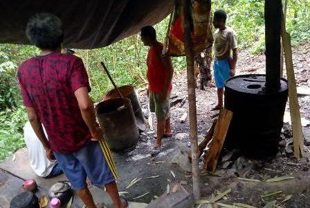 Di Fakfak Papua Barat, Polisi Gerebek Rumah Produksi Milo