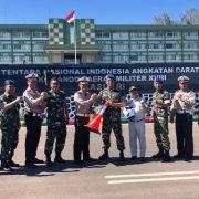 Dir Lantas Polda Papua Barat Serahkan Helem dan Traffic Kun untuk Pomdam XVIII/Kasuari