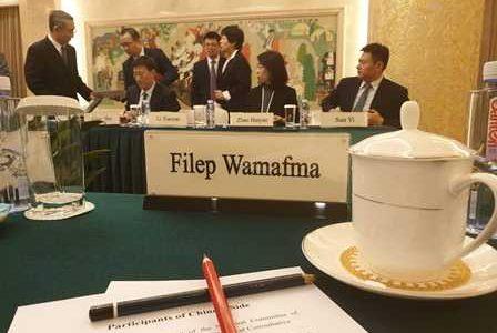 Kunjungan Kerja DPD RI ke Parlemen China, Filep Wamafma Aspirasikan Papua Disana