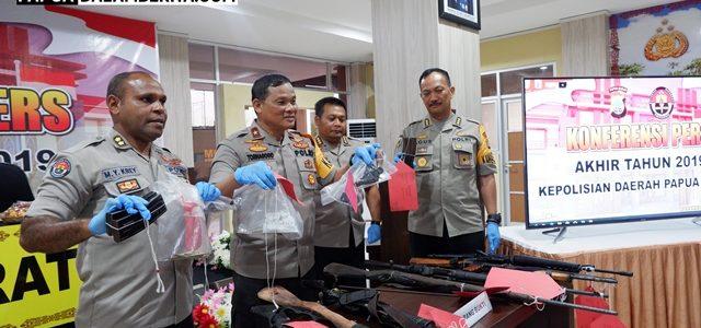 Polsek Kota Manokwari Tangkap Senjata Api