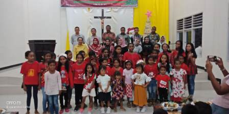 Bank Papua Gelar Natal Bersama Sekami Paroki St. Paulus Fakfak