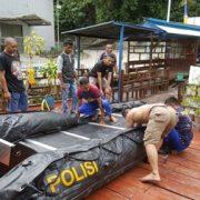 Cuaca Extrim, Polair Polres Fakfak Siapkan Rubber Boat