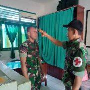 Deteksi Covid -19, Puluhan Prajurit TNI Kodim 1803 Fakfak Tes Suhu Badan