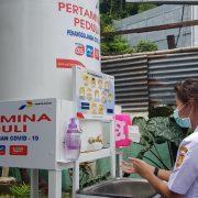Pertamina Tambah Bantuan Tandon Air Cuci Tangan Untuk Cegah COVID-19 di Jayapura