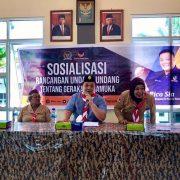 Rico Sia Sosialisasi RUU Pramuka di Kwarcab Kota Sorong