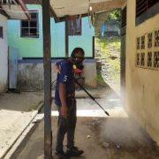 Basmi Virus Corona, NasDem Peduli Semprot Disinfektan Kota Manokwari