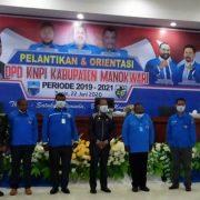 Pelantikan Pengurus DPD KNPI Kabupaten Manokwari Tak Ada Kaitan dengan Politik