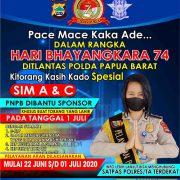 Ada Kado Special dari Direktorat Lalulintas Polda Papua Barat di HUT Bhayangkara