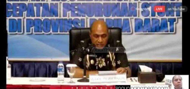 Wakil Gubernur Papua Barat Buka Rakor Percepatan Penurunan Stunting