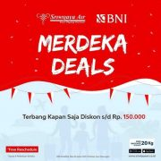 Meriahkan HUT Ke-75 RI, Sriwijaya Air & BNI Luncurkan Promo 'Merdeka Deals'
