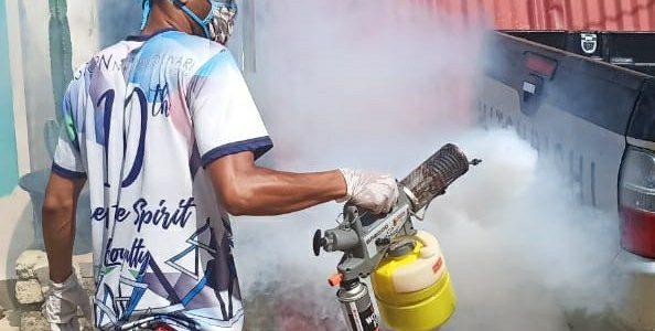 Cegah Corona, PT Fulicaland Semprot Disinfektan ke Perumahan Sogun City dan Sogun Permai