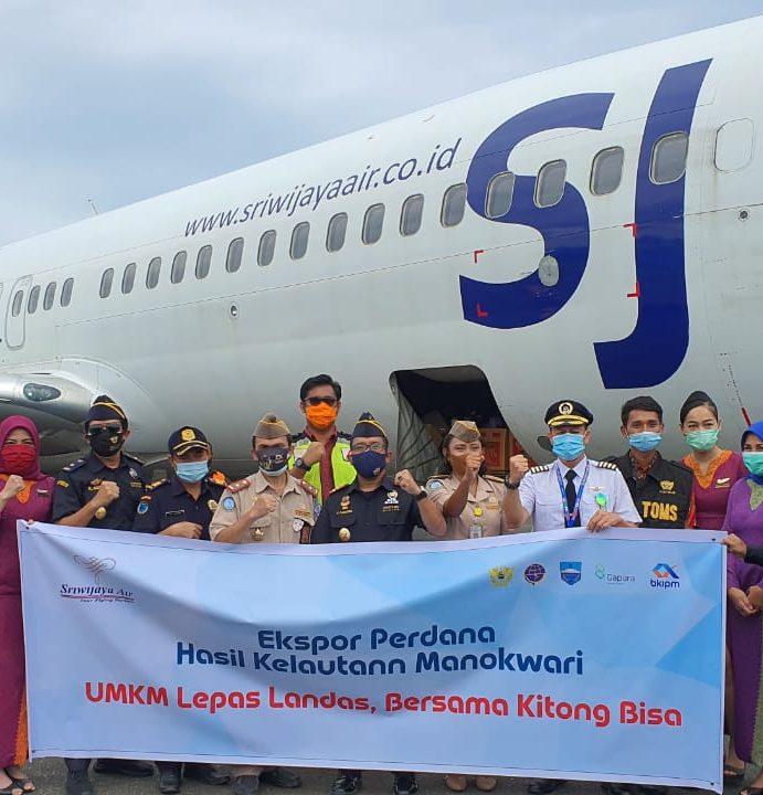 Sriwijaya Air Bersinergi dengan Pemkab Manokwari Ekspor Kepiting Hidup ke Singapura