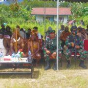 Satgas Pamrahwan Raider 500 Doa Bersama Warga Sambut Tahun Baru