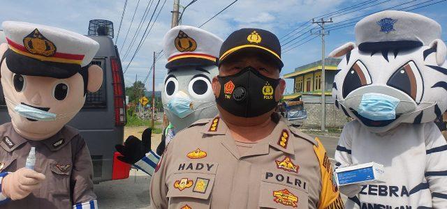 Operasi Aman Nusa II Polda Papua Barat Kembali Bagi 1.500 Masker