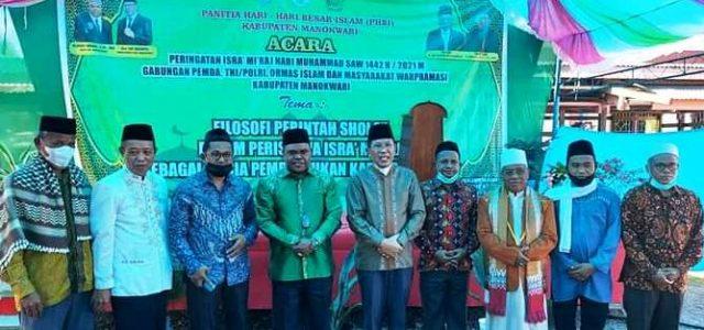 Bupati Hadiri Peringatan Isra Mi'raj, Ajak Umat Jaga Perdamaian Kabupaten Manokwari