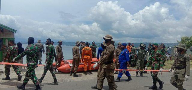 Kodim Manokwari Ikut Latihan Penanggulangan Bencana Bersama Brimob dan Basarnas