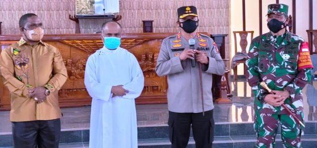 Kapolda, Pangdam, Bupati Manokwari Tinjau Pelaksanaan Ibadah Jumat Agung