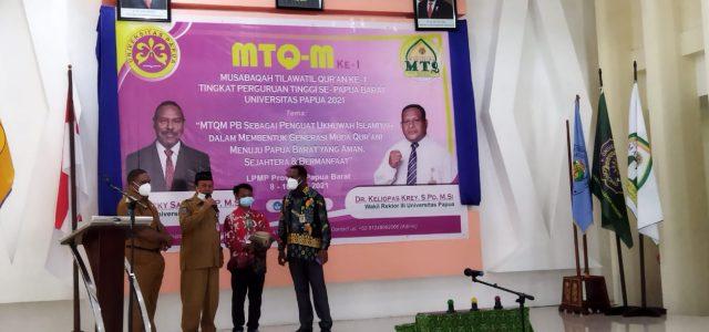 MTQ-Mahasiswa Se Papua Barat: Ini Pesan Rektor UNIPA, Gubernur dan Bupati