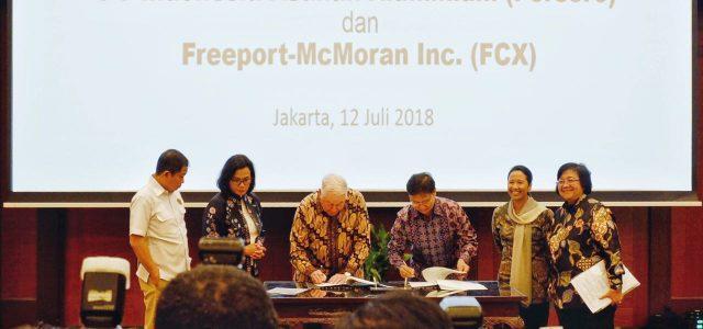 Freeport  Apresiasi Positif Atas Kesepakatan  yang Dicapai Bersama Pemerintah Indonesia