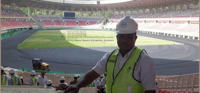 Jelang PON XX, 2020 Deputi Staf Presiden Melihat Kemegahan Stadion Papua Bangkit