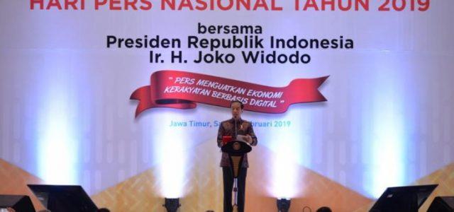 Presiden Jokowi Terima Medali Kemerdekaan Pers