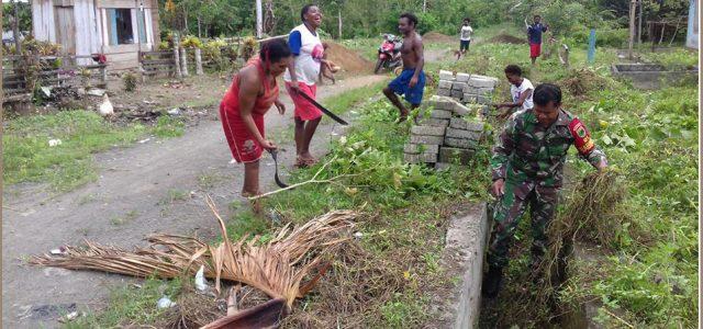 Pos Ramil Tanah Rubuh Ajak Warga Budidayakan Lingkungan Bersih dan Sehat