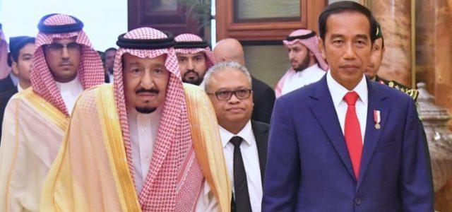 Presiden RI, Jokowi Bertemu Raja Salman di Riyadh