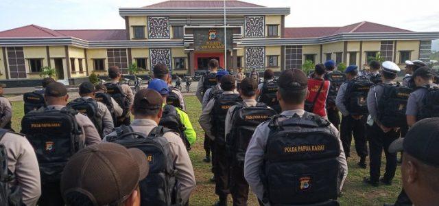 Kapolres Manokwari Cek Kesiapan Personel Pengamanan TPS