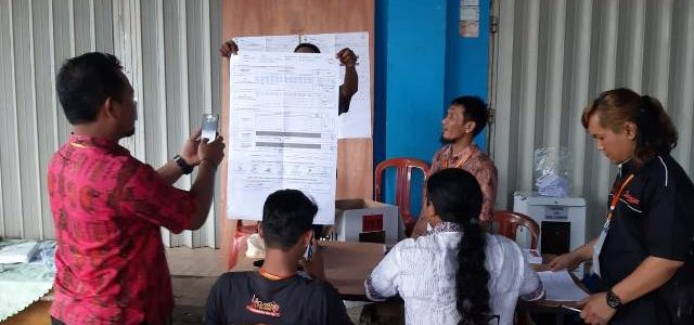 Di TPS 68 Reremi Manokwari, Jokowi – KH Ma'ruf,  A Nausrau dan Mugiyono Unggul