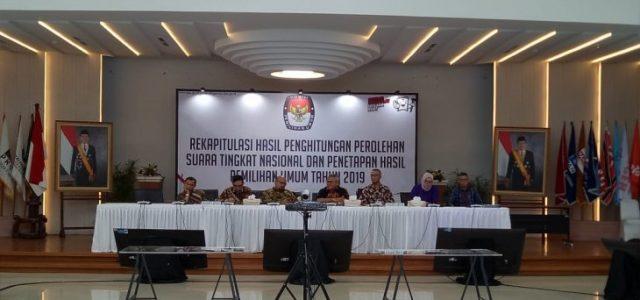 KPU Rekapitulasi Suara Nasional Empat Provinsi