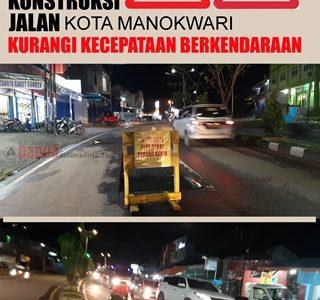 Enam Titik Jalan dalam Kota Manokwari Dalam Perbaikan