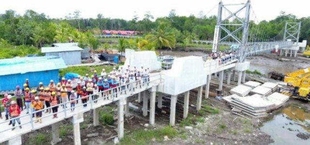 Kementerian PUPR Tuntaskan Jembatan Gantung di Kabupaten Asmat