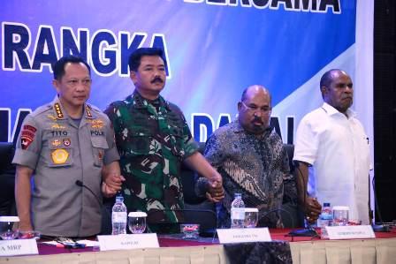 Panglima TNI Ingatkan Deklarasi Jaga Papua Tanah Damai Harus Diimplementasikan