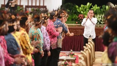 Presiden Jokowi Terima Tokoh Papua di Istana