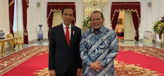 LaNyalla Sampaikan Aspirasi Daerah Saat Bertemu Presiden Jokowi