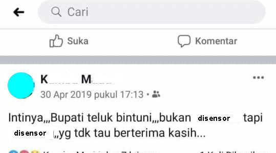 """Polres Teluk Bintuni Diminta Tangkap Pemilik Akun Facebook """"KM"""""""