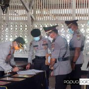 Kapolres Manokwari Pimpin Sertijab Pejabat Utama, Winarto LO Polres Maybrat, Sunarko Jabat Kapolsek Kota Manokwari