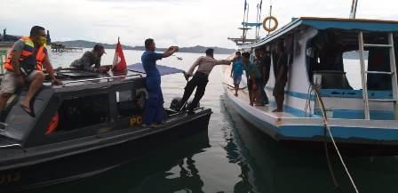 Satgas Covid -19, Perintahkan Kapal Nelayan Asal Bombana Tinggalkan Perairan Fakfak