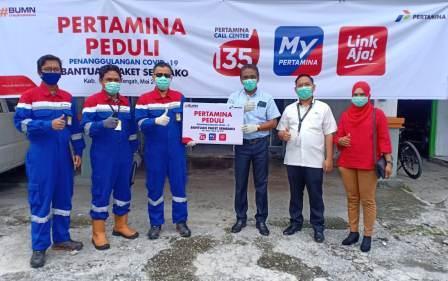 Pertamina Peduli dan Sinergi BUMN Salurkan Bantuan Tanggap Covid-19 di Provinsi Maluku