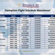 Jadwal Penerbangan Sriwijaya Air, Manokwari, Makassar, Surabaya, Jakarta