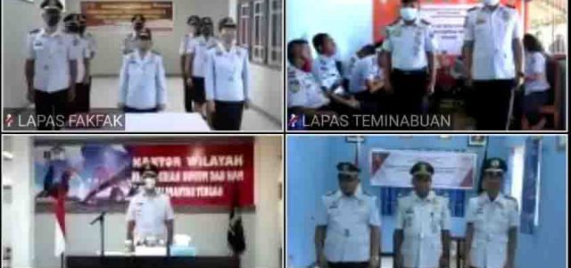 57 Pejabat Eselon III, IV dan V Kemenkumham Papua Barat Dilantik Secara Virtual oleh Kakanwil